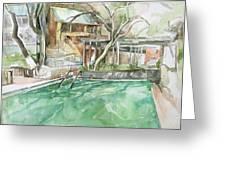 Harbin Hotsprings Pool Greeting Card