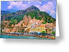 Harbor At Amalfi Greeting Card