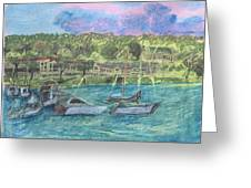 Harbor At Halesite Greeting Card