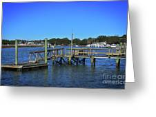 Harbor At Mcclellanville, Sc Greeting Card