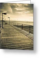 Harbor Beach Michigan Boardwalk Greeting Card