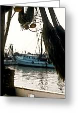 Harbor Boats Greeting Card