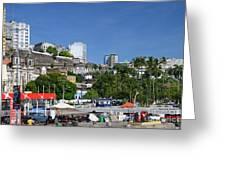 Harbor In Salvador Da Bahia Brazil Greeting Card