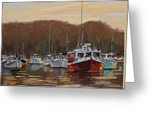Harbor Lights - Annapolis Morning Greeting Card