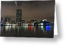 Harbor Lights In Baltimore Greeting Card