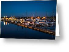 Harbor Lights Greeting Card