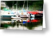Harbor Masts Greeting Card