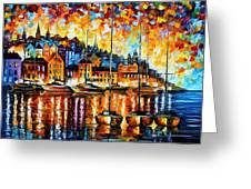 Harbor Of Corsica Greeting Card