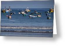 Harbor Of San Juan Del Sur Greeting Card