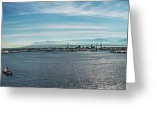 Harbor Panorama  Greeting Card