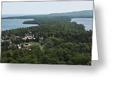 Harbor Panoramic Greeting Card