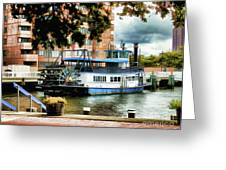 Harbor Park Ferry 5 Greeting Card by Lanjee Chee
