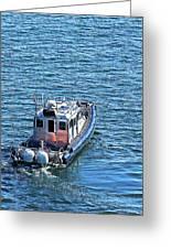Harbor Police Patrol Boat Greeting Card