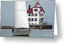 Harbor Sailor Greeting Card