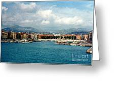 Harbor Scene In Nice France Greeting Card