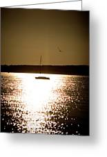 Harbor Silhouette Greeting Card