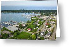 Harbor Springs From Above Greeting Card
