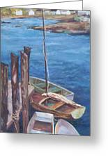 Harbor View So. Freeport Wharf Greeting Card