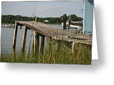 Harborton Dock Greeting Card