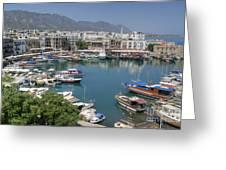 Harbour At Kyrenia Greeting Card