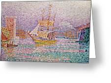 Harbour At Marseilles Greeting Card