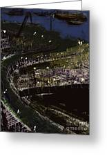 Harbour At Night Greeting Card