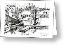 Harbour Boats Greeting Card
