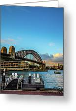 Harbour Sky Greeting Card