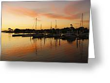 Harbour Sun Set Greeting Card