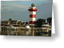 Harbour Town Light Hilton Head South Carolina Greeting Card