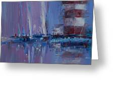 Harbour Town Sail Greeting Card