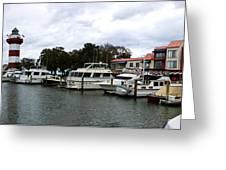 Harbourtown Marina Panorama Greeting Card