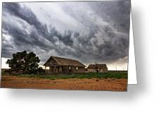 Hard Days - Abandoned Home On West Texas Plains Greeting Card