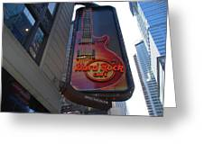 Hard Rock Cafe N Y C Greeting Card by Rob Hans