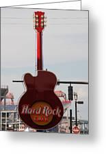 Hard Rock Cafe Nashville Greeting Card
