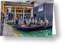 Hard Rock Cafe Venice Gondolas_dsc1294_02282017 Greeting Card