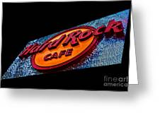 Hard Rock Hollywood Greeting Card