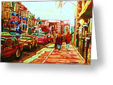 Hard Rock  On Crescent Greeting Card