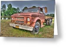 Hard Working Farm Truck Greeting Card