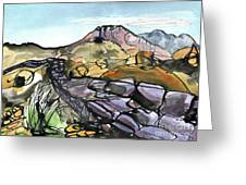 Hardknott Roman Fort Greeting Card
