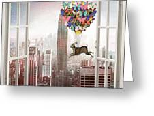Hare In Nyc Greeting Card