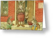 Hare School Greeting Card