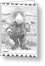 Harecowboy Greeting Card
