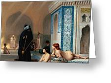 Harem Pool Greeting Card