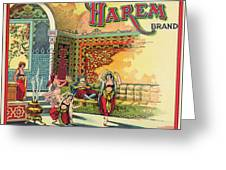 Harem Vintage Fruit Packing Crate Label C. 1920 Greeting Card