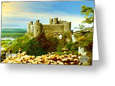 Harlech Castle Greeting Card