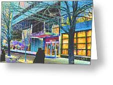 Harlem Street Scene  Greeting Card