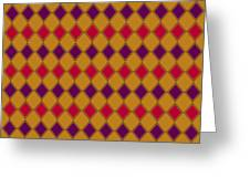 Harlequin Gold Purple Coral Greeting Card