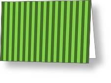 Harlequin Green Striped Pattern Design Greeting Card