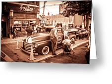 Harley 110 In Downtown Milwaukee Greeting Card